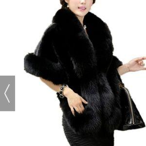 Jackets & Blazers - Women's Soft Long Faux Fox Fur Shawl